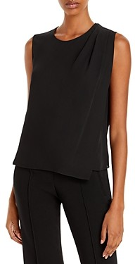 Theory Silk Shoulder Drape Top