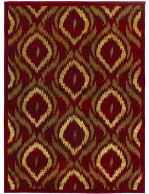 "Dulcia Ikat Power Loom Red/Brown Area Rug Winston Porter Rug Size: 5'5"" x 7'8"""