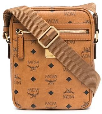 MCM Logo-Print Crossbody Messenger Bag