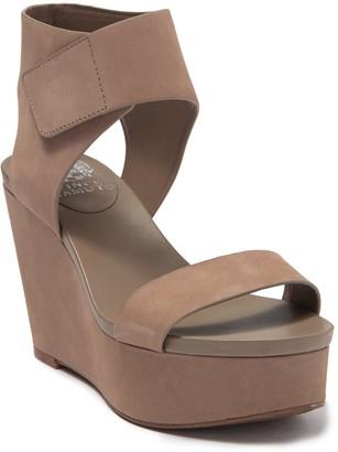 Vince Camuto Velista Leather Wedge Platform Sandal