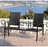 Amalfi by Rangoni Rattan Duo Seat