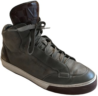 Louis Vuitton Trainer Sneaker Boot High Grey Suede Trainers