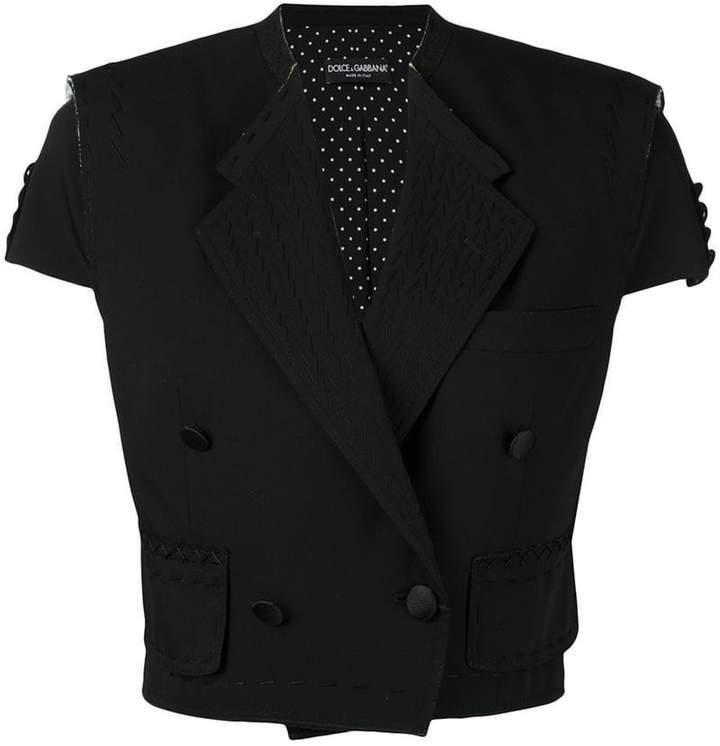 Dolce & Gabbana cropped short sleeve jacket