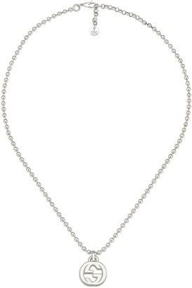 Gucci Interlocking G necklace in silver