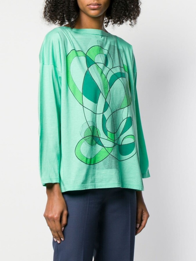 Thumbnail for your product : Fendi Pre-Owned 1980's abstract print T-shirt