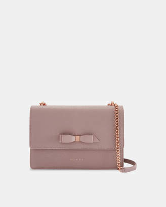Ted Baker JOANAA Medium bow detail leather cross body bag