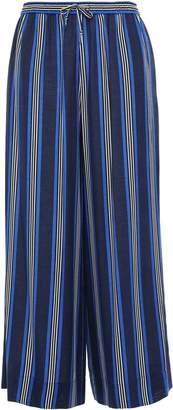 Diane von Furstenberg West Striped Silk-blend Wide-leg Pants