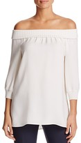 Lafayette 148 New York Marlo Off-the-Shoulder Silk Blouse