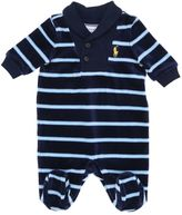 Ralph Lauren Stripes Printed Cotton Chenille Romper