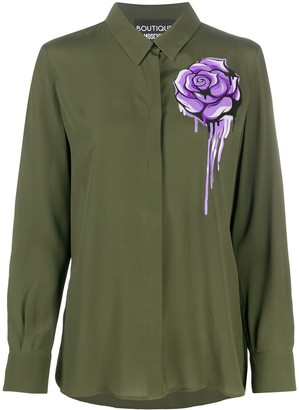 Boutique Moschino Floral Long-Sleeve Blouse