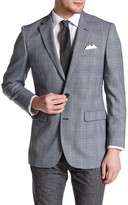 Brooks Brothers Milano Multicolored Glenplaid Two Button Notch Lapel Wool Blazer