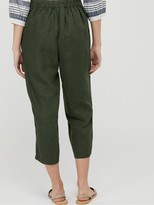 Monsoon Bernice 100% Linen Trousers - Khaki