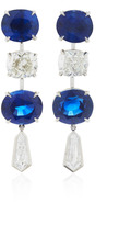 Bayco One-of-a-Kind Sapphire & Diamond Earrings