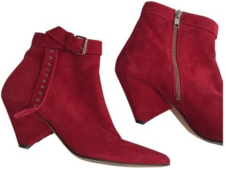 IRO Red Suede Boots