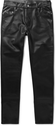 Rick Owens Tyrone Slim-Fit Faux Leather Trousers