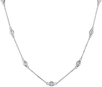 Diamond Select Cuts 14K 0.84 Ct. Tw. Diamond Station Necklace