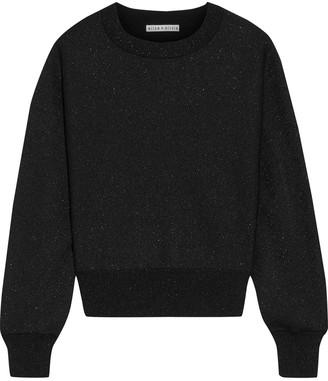 Alice + Olivia Maire Metallic Stretch-knit Sweater