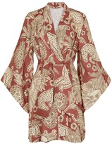 Thumbnail for your product : Johanna Ortiz Woodland Tribes printed linen kimono
