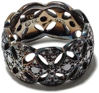 Loree Rodkin Diamond-Encrusted Interlocked Ring