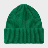 Paul Smith Men's Green Cashmere Beanie Hat