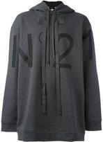 No.21 oversized logo print hoodie