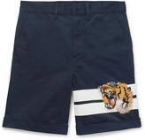 Gucci Appliquéd Cotton-Gabardine Shorts