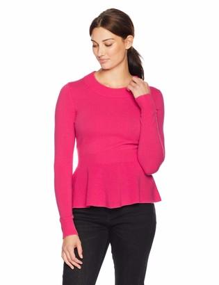 Lark & Ro Amazon Brand Women's Sweaters Peplum Cashmere Sweater