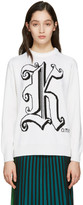 Christopher Kane Ivory Maxi Logo Sweater