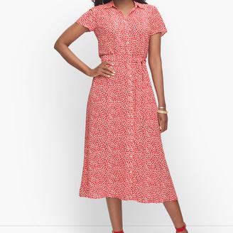 Talbots Leopard Tie-Waist Midi Dress