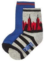 River Island Mini boys grey print socks multipack