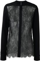 La Perla 'Leisuring' lace detail shirt - women - Silk/Polyamide/Polyester/Viscose - 40