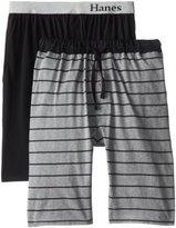 Hanes Men's Big-Tall Knit Sleep Short (Pack of 2)