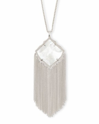 Kendra Scott Kingston Long Pendant Necklace in Silver