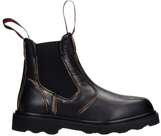 Marni Combat Boots In Black Leather