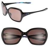 Oakley Women's 'Overtime - Karena' 59Mm Polarized Sunglasses - Black/ Grey Polar
