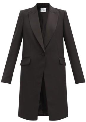 Pallas Paris Hussard Single-breasted Satin-lapel Wool Coat - Black