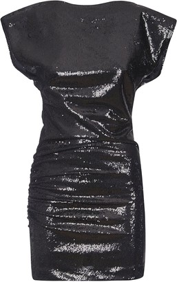 P.A.R.O.S.H. Fitted Short Glossy Dress