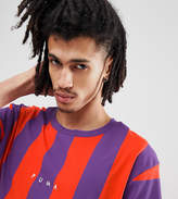 Puma Vertical Stripe T-Shirt In Red Exclusive To Asos