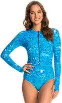 SlipIns SurfSkin Mini Blue Fish Zipper Long Sleeve One Piece Swimsuit 8144815