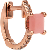 Elise Dray Diamond, quartz & pink-gold mini-hoop earring