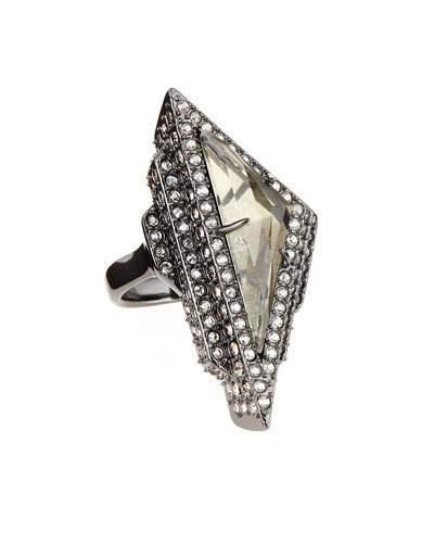 Alexis Bittar Pavé Crystal Pyramid Ring