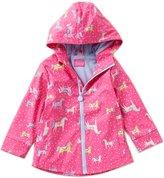 Joules Little Girls 1-6 Rain Dance Pony Print Rain Coat