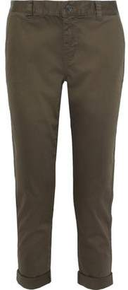 Current/Elliott The Confidant Cropped Stretch-cotton Slim-leg Pants