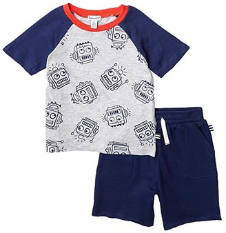 Splendid Littles Robot Print Tee Set (Toddler/Little Kids/Big Kids) (Indigo Sky) Boy's Active Sets