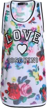 Love Moschino Floral-print Stretch-mesh Tank