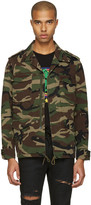 Saint Laurent Green Camo 'Love' Military Jacket