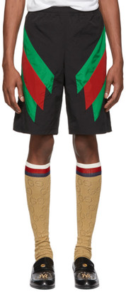 Gucci Black Intarsia Web Shorts