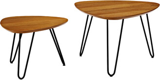 Hewson Mid-Century Hairpin Leg Nesting Coffee Table Set