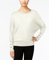 Alfani Dolman-Sleeve Ribbed Sweater, Only at Macy's