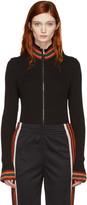 Wales Bonner Black Palms Zip-up Sweater